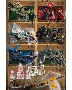 Макси плакат Pyramid - LEGO® Ninjago Movie (Ninjas & Mechs)