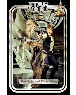 Макси плакат Pyramid - Star Wars Classic (Han and Chewie Retro)
