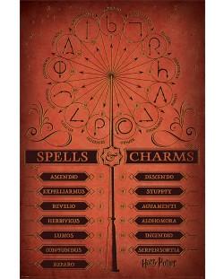 Макси плакат Pyramid - Harry Potter (Spells & Charms)