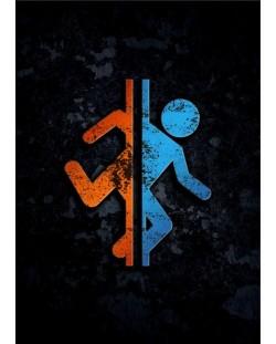 Метален постер Displate - Portal 2