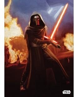 Метален постер Displate - Star Wars: Leader of the Knights