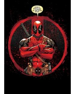 Метален постер Displate - Deadpool: Evening Plans