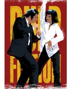 Метален постер Displate - Pulp Fiction Dancing