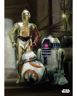 Метален постер Displate - Star Wars: Droids