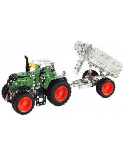 Метален конструктор Tronico - Мини серия, трактор с ремарке Fendt 313 Vario