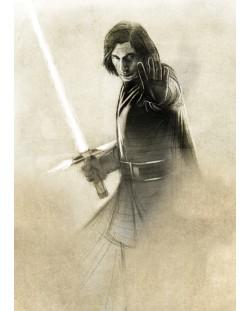 Метален постер Displate - Star Wars: Kylo Ren
