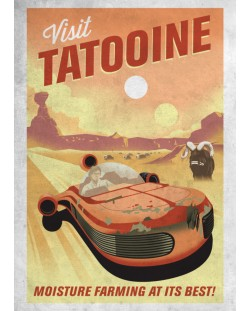 Метален постер Displate - Star Wars: Visit Tatooine