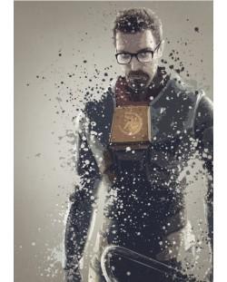 Метален постер Displate - Gordon Freeman