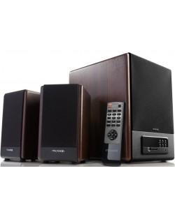 Аудио система Microlab FC530U - 2.1, кафява/черна