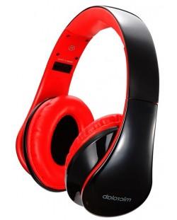 Слушалки с микрофон Microlab K360 - черни/червени