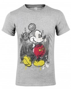 Тениска Micky Mouse - Tap, сива, размер L