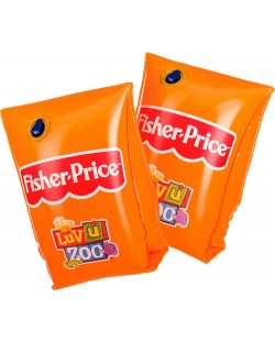 Надуваеми раменки Fisher Price - Оранжеви, 18 x 18 cm
