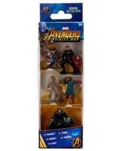 Комплект фигури Nano Metalfigs Marvel Avengers - 5 броя