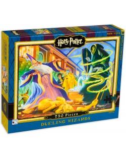 Пъзел New York Puzzle от 750 части - Дуелиране на магьосници