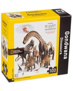 Мини пъзел New York Puzzle от 100 части - Динозаври