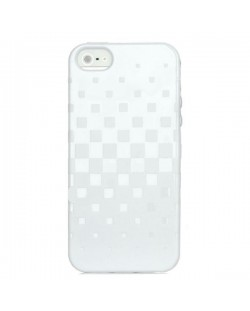 Newtons Square Grid TPU Case за iPhone 5 -  бял