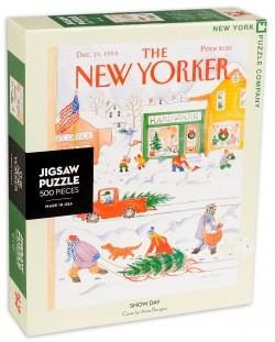 Пъзел New York Puzzle от 500 части - Снежен ден