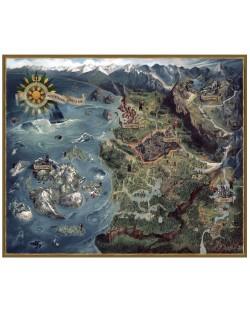 Пъзел Dark Horse от 1000 части - Witcher 3 Wild Hunt Northern Realms Map