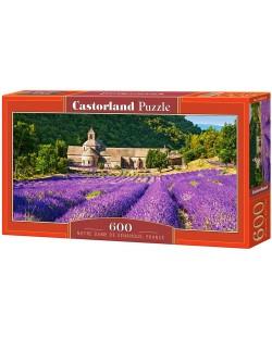 Панорамен пъзел Castorland от 600 части - Абатството Нотр Дам в Сенанк, Франция