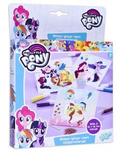 Творчески комплект Totum My Little Pony - Оцвети сам картинките