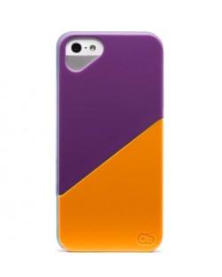 Olo Duet Snap On Case за iPhone 5 -  лилаво и оранжево