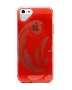 Калъф Olo Glacier Snap On TPU за iPhone 5, Iphone 5s - червен