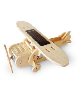 Дървен 3D пъзел Robo Time от 25 части – Соларен моноплан