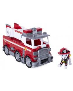 Комплект Spin Master Paw Patrol - Ultimate Rescue, Маршал с пожарна