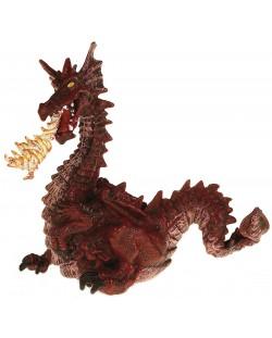 Фигурка Papo The Enchanted World – Огнедишащ дракон, червен