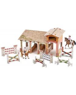 Сглобяем модел Papo Horses, foals and ponies – Клуб по езда, с фигурки