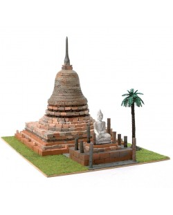 Сглобяем модел Domus Kits - Будистка пагода Wat Sa Si (Sukhothai), Макет с истински тухли