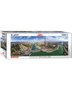 Панорамен пъзел Eurographics от 1000 части - Париж, Франция