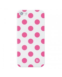 Pat Says Now Pink Polka Dot за iPhone 5