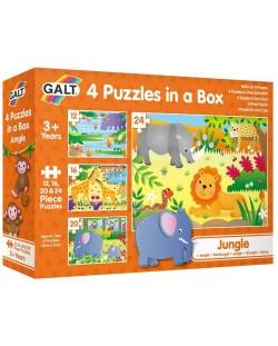 Пъзел Galt Toys 4 в 1 - Джунгла