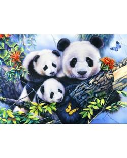 Пъзел Bluebird от 1000 части - Семейство Панда
