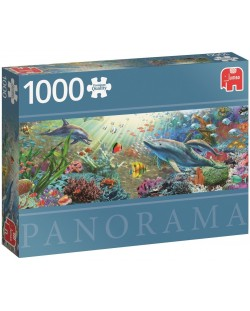 Панорамен пъзел Jumbo от 1000 части - Воден рай