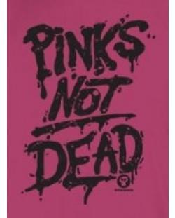 Тениска RockaCoca Pink's not dead, розова, размер S