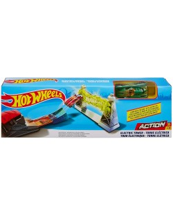 Писта с количка Hot Wheels Action - Electric Tower