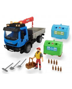 Детска играчка Dickie Toys Playlife - Камион с кран и контейнери