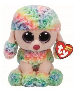 Плюшена играчка TY Toys Beanie Boos - Пудел Rainbow, шарен, 24 cm