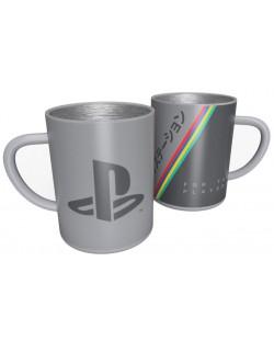 Метална чаша Numskull PlayStation - 25th Anniversary, 400 ml