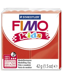 Полимерна глина Staedtler Fimo Kids - червен цвят