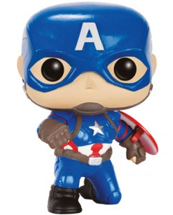 Фигура Funko Pop! Marvel: Captain America Civil War - Captain America (Action Pose), #137
