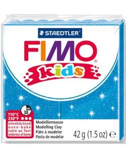 Полимерна глина Staedtler Fimo Kids - блестящ син цвят