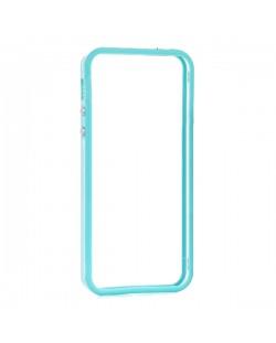 Protective Ultraslim Clear Bumper за iPhone 5 -  син