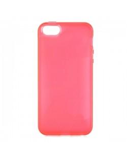Protective Translucent TPU Case за iPhone 5 -  червен-прозрачен
