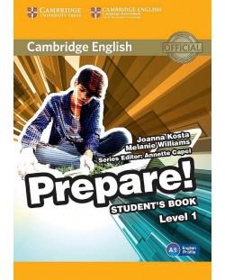 Prepare! 1 Student's Book: Английски език - ниво А1 (учебник)