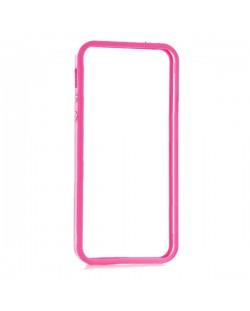 Protective Ultraslim Clear Bumper за iPhone 5 -  розов