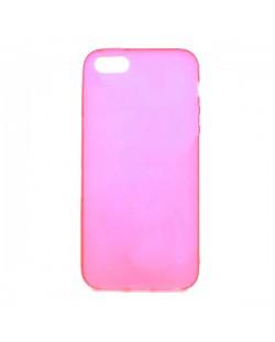 Protective Translucent TPU Case за iPhone 5 -  розов-прозрачен