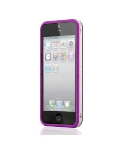 Protective Ultraslim Clear Bumper за iPhone 5 -  лилав